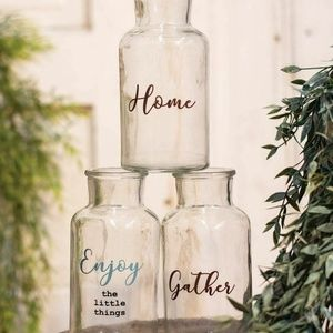Set of 3 Home Gather Enjoy the Little Things Bottl